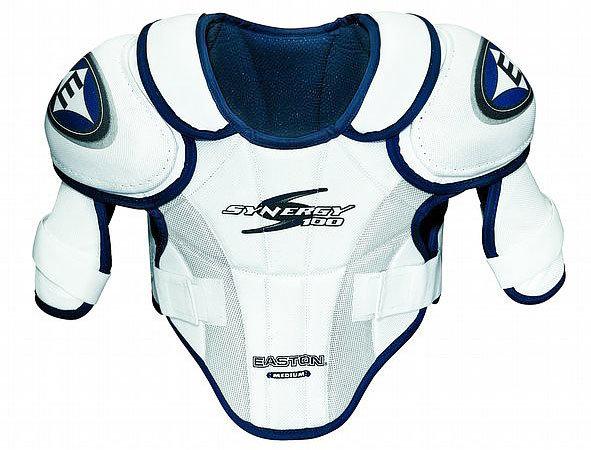 Bílý hokejový chránič ramen - junior Easton - velikost L
