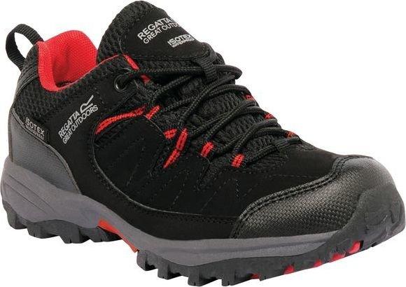 Černé dětské trekové boty Holcombe, Regatta