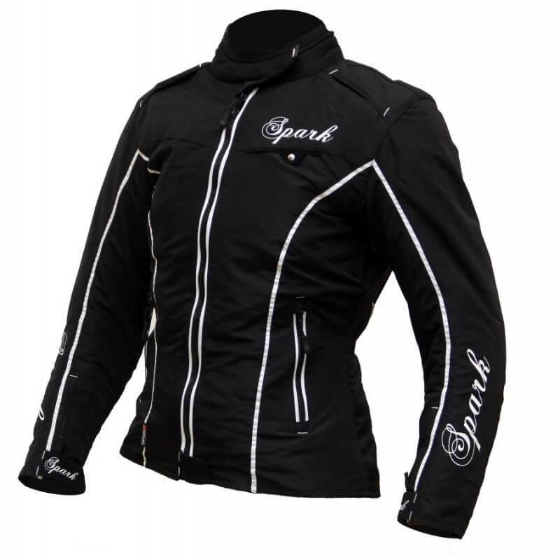 Černá dámská motorkářská bunda Nora, Spark