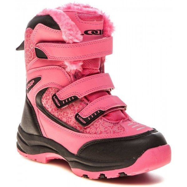 Růžové dívčí zimní boty Loap