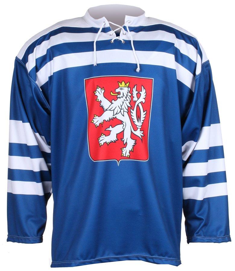 Modrý hokejový dres Replika ČSR 1947, Merco