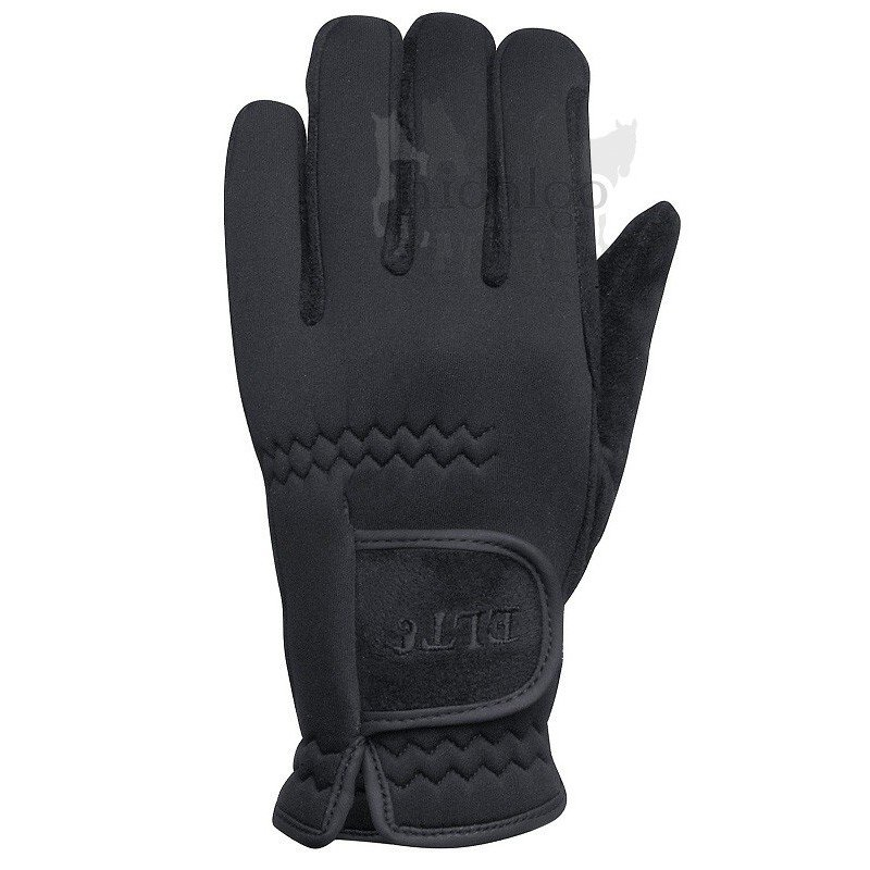 Černé jezdecké rukavice Waldhausen