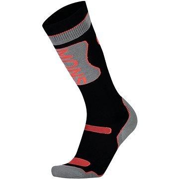 Černo-šedé dámské lyžařské ponožky Mons Royale