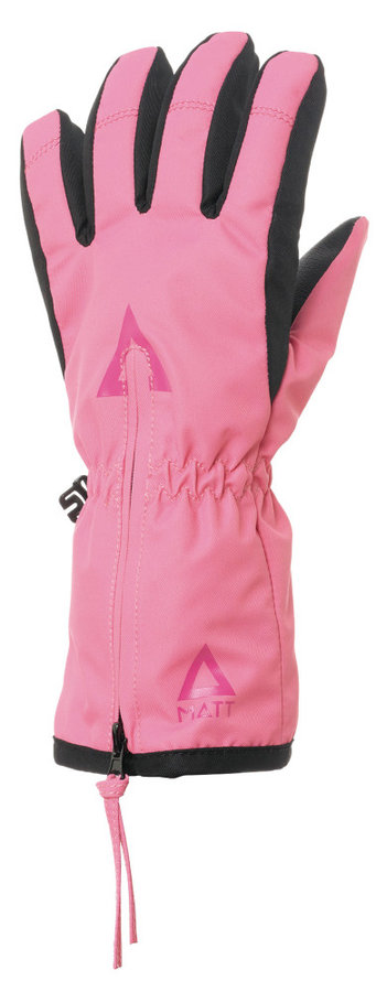 Růžové dívčí zimní rukavice Matt - velikost 4