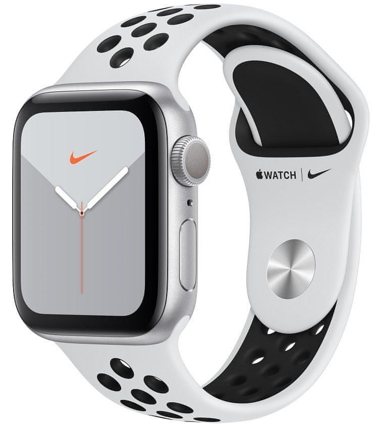 Stříbrné analogové chytré hodinky Watch Nike Series 5 GPS, Apple