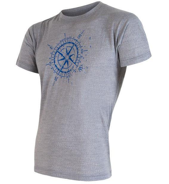 Šedé pánské tričko s krátkým rukávem Sensor