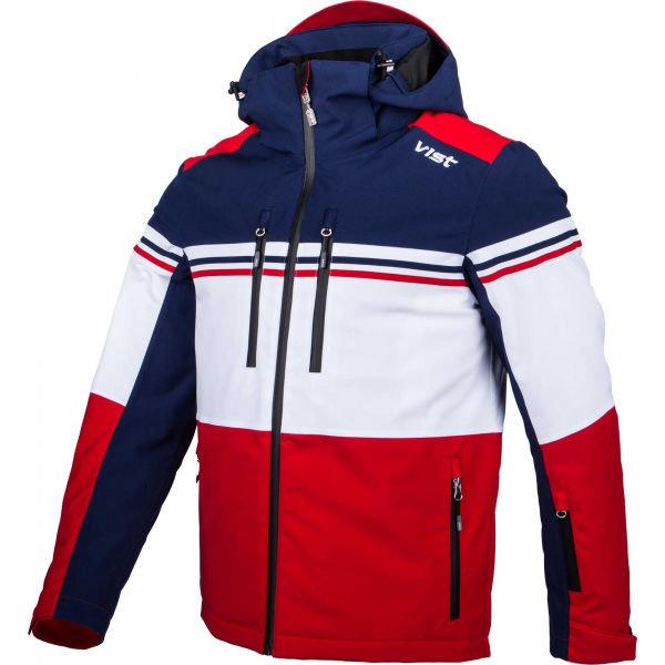 Bílo-modrá pánská lyžařská bunda Vist