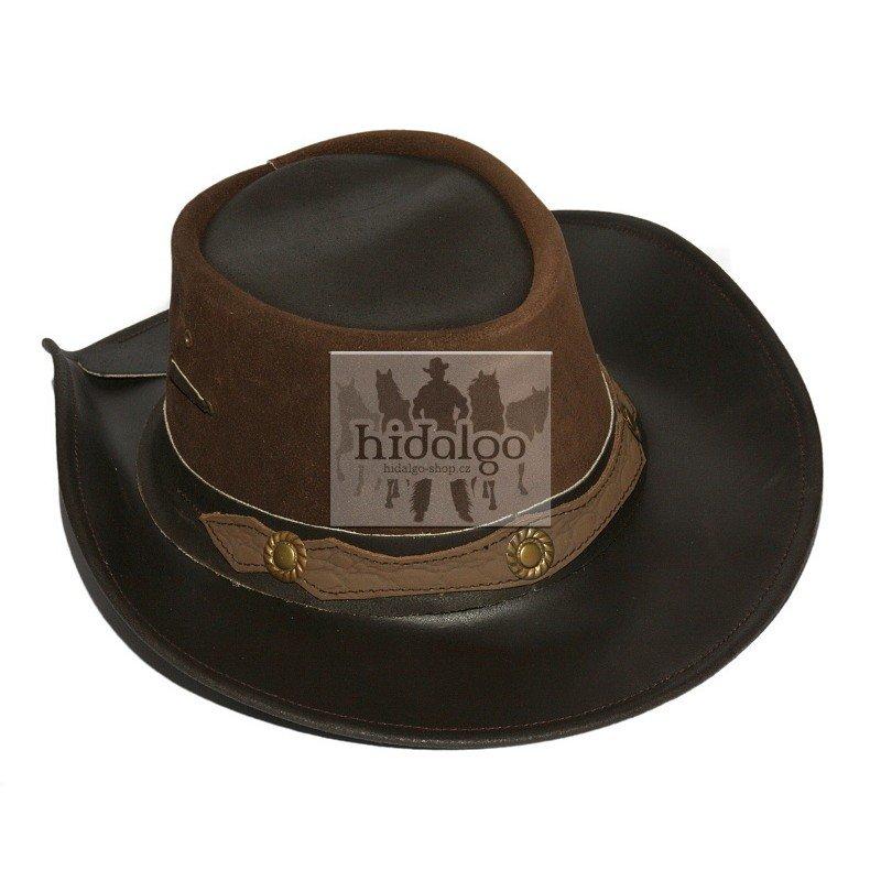 Hnědý westernový unisex jezdecký klobouk Texas