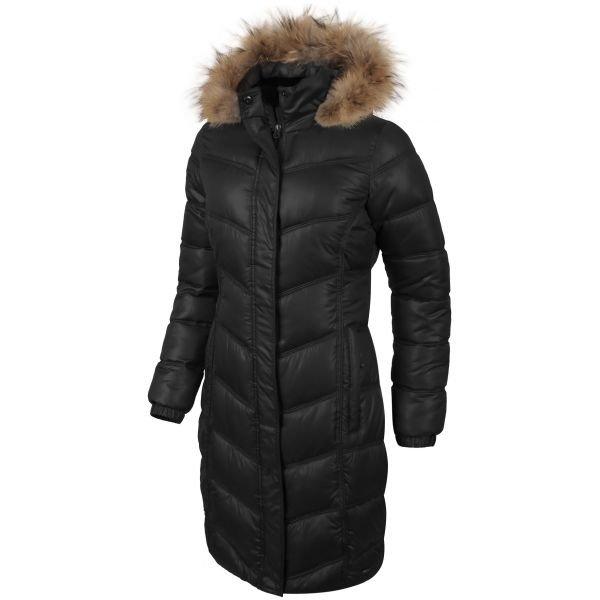 Černý prošívaný dámský kabát Willard