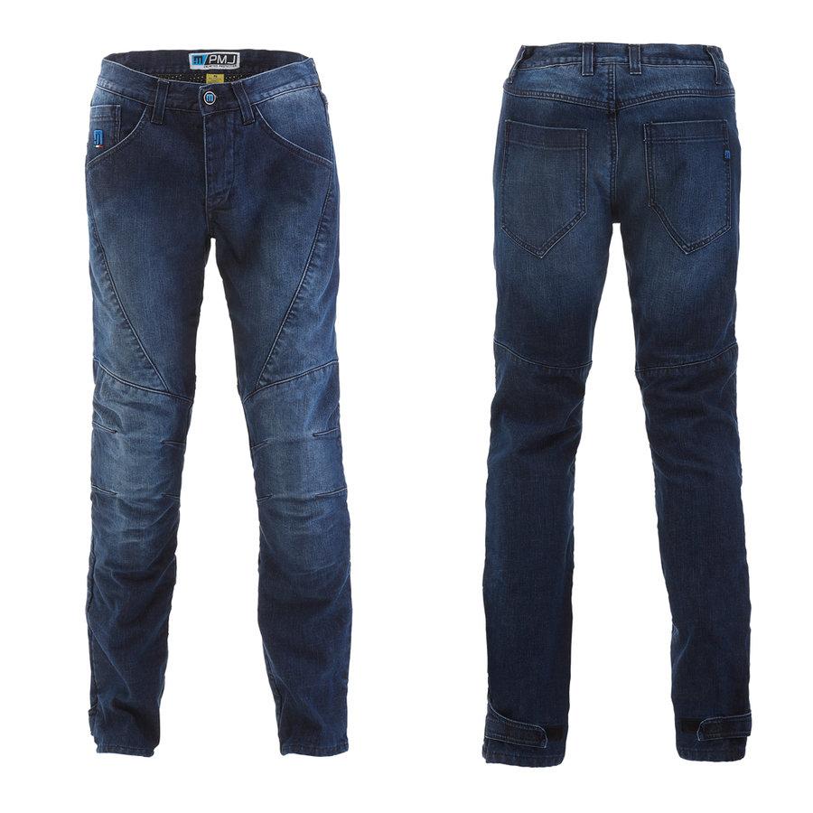 Modré pánské motorkářské kalhoty Titanium, PMJ Promo Jeans