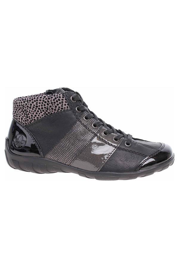 Černé dámské kotníkové boty Rieker