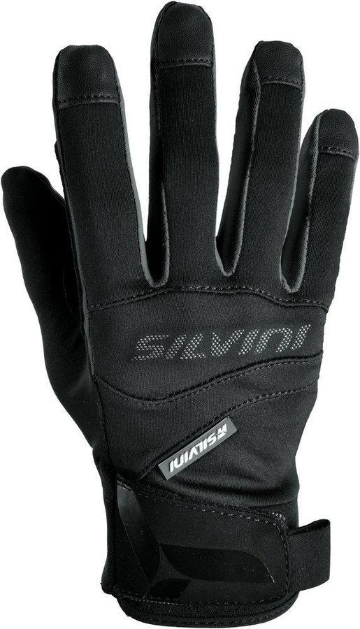 Černé dámské běžecké rukavice Silvini