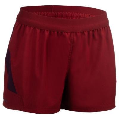 Červené dámské ragbyové kraťasy R500, Offload