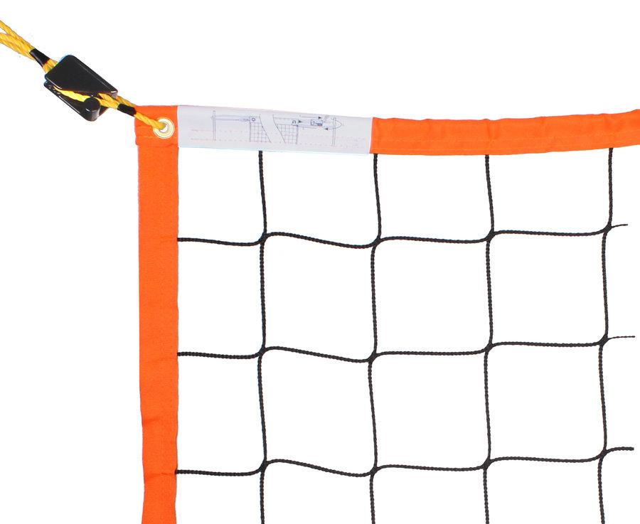 Volejbalová síť - Pokorný sítě Volejbal Beach Ekonom oranžová