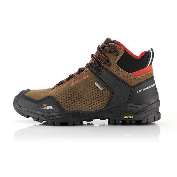 Hnědé nepromokavé trekové boty Alpine Pro