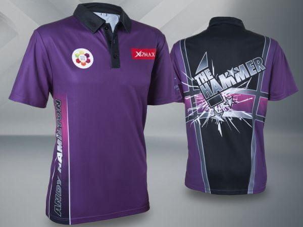Fialový šipkařský dres XQMax Darts