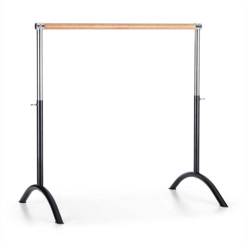 Baletní tyč - KLARFIT Bar Lerina, černá, baletní tyč, 110x113 cm, přenosná, výškově nastavitelná, ocel