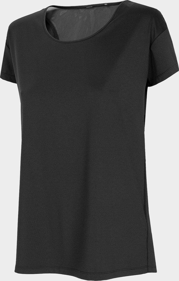 Černé dámské funkční tričko s krátkým rukávem 4F