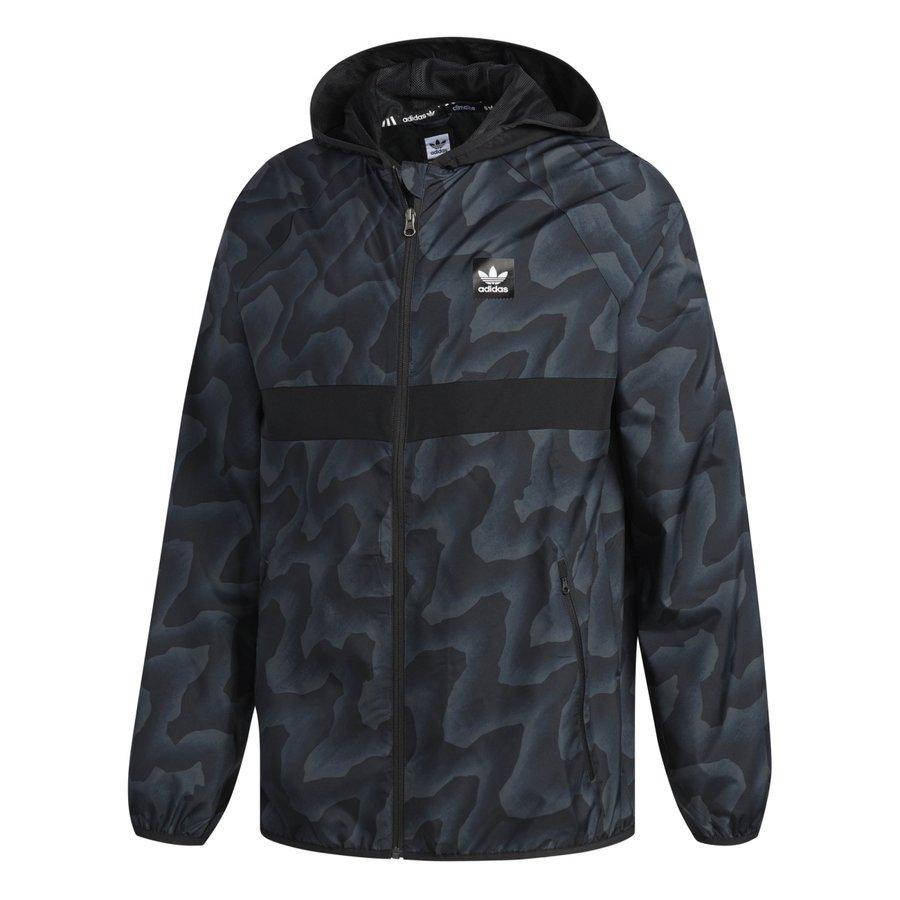 Šedá pánská bunda Adidas - velikost L