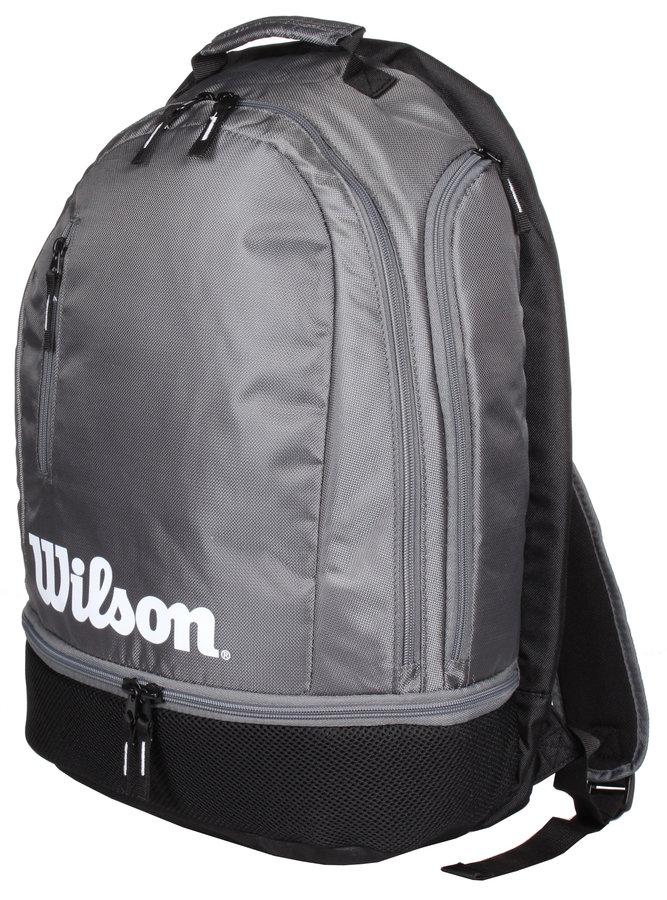 Černo-šedý tenisový batoh Wilson