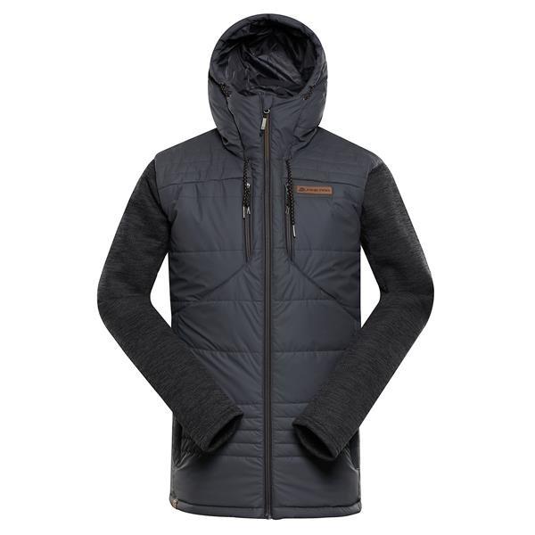 Šedá pánská bunda s kapucí Alpine Pro - velikost XS