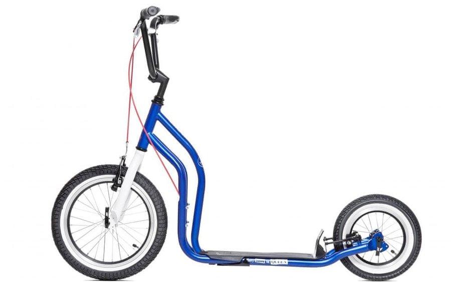 Modrá dětská koloběžka London, Yedoo - nosnost 120 kg