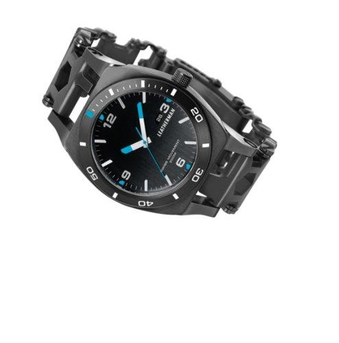 Černé analogové hodinky Leatherman