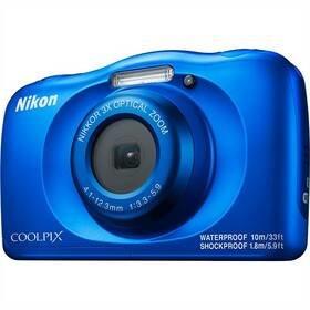 Modrý outdoorový fotoaparát Coolpix W150, Nikon