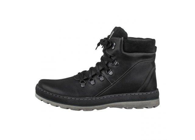 Černé pánské zimní boty Hujo