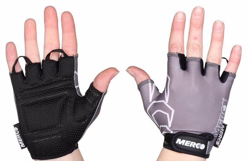 Cyklistické rukavice - Merco BG Gel 02 black/black barva: šedá-černá;velikost oblečení: XS