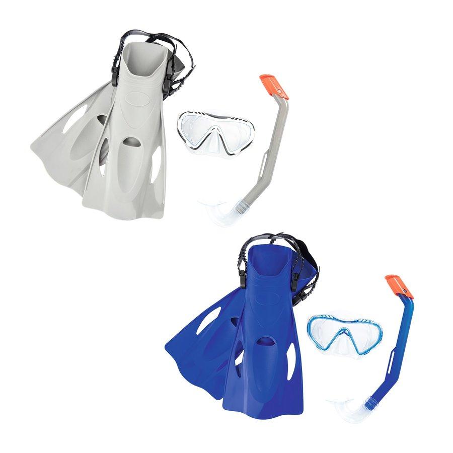 Potápěčská sada - Potápěčský set BESTWAY Hydro Swim 25025 s ploutvemi - modrý