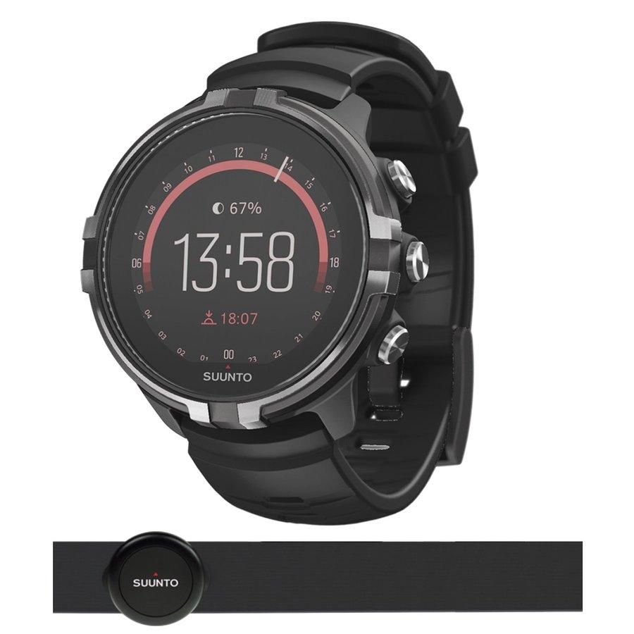 Černé digitální sportovní chytré hodinky Spartan Sport Wrist HR Baro Stealth, Spartan