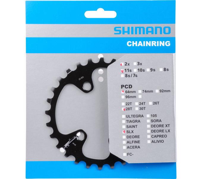 Převodník na kolo - převodník 28z Shimano SLX FC-M7000 2x11 4 díry