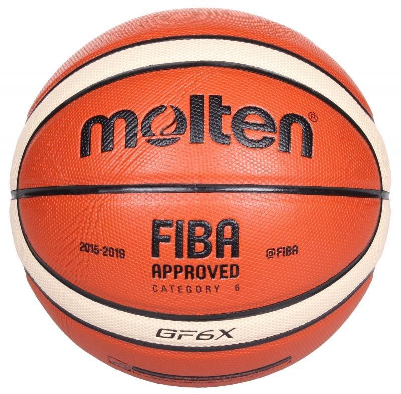 Oranžovo-žlutý basketbalový míč BGF6, Molten - velikost 6