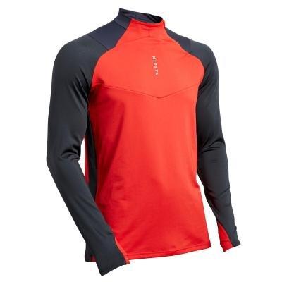 Červeno-šedá pánská běžecká mikina Kipsta