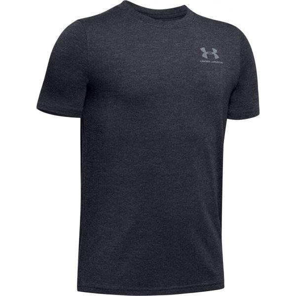 Černé chlapecké tričko s krátkým rukávem Under Armour - velikost M