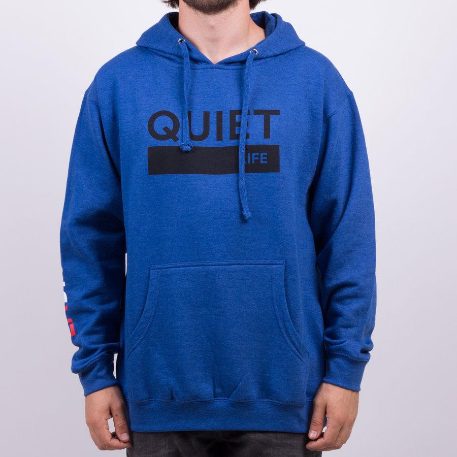 Modrá bavlněná pánská mikina s kapucí The Quiet Life