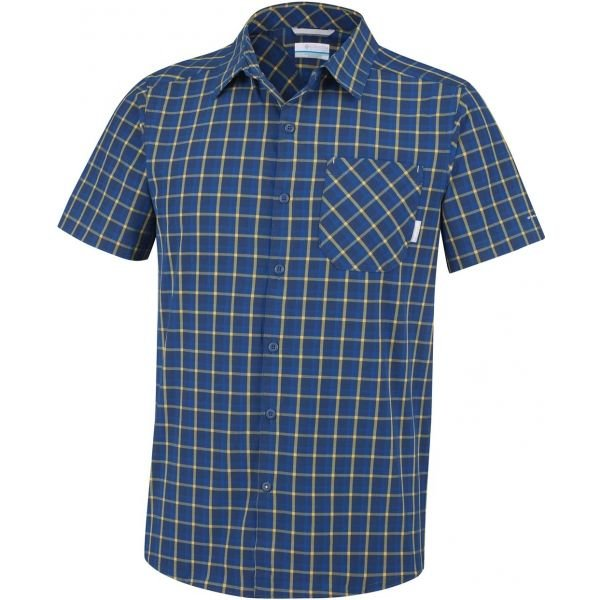 Modrá pánská košile s krátkým rukávem Columbia - velikost S
