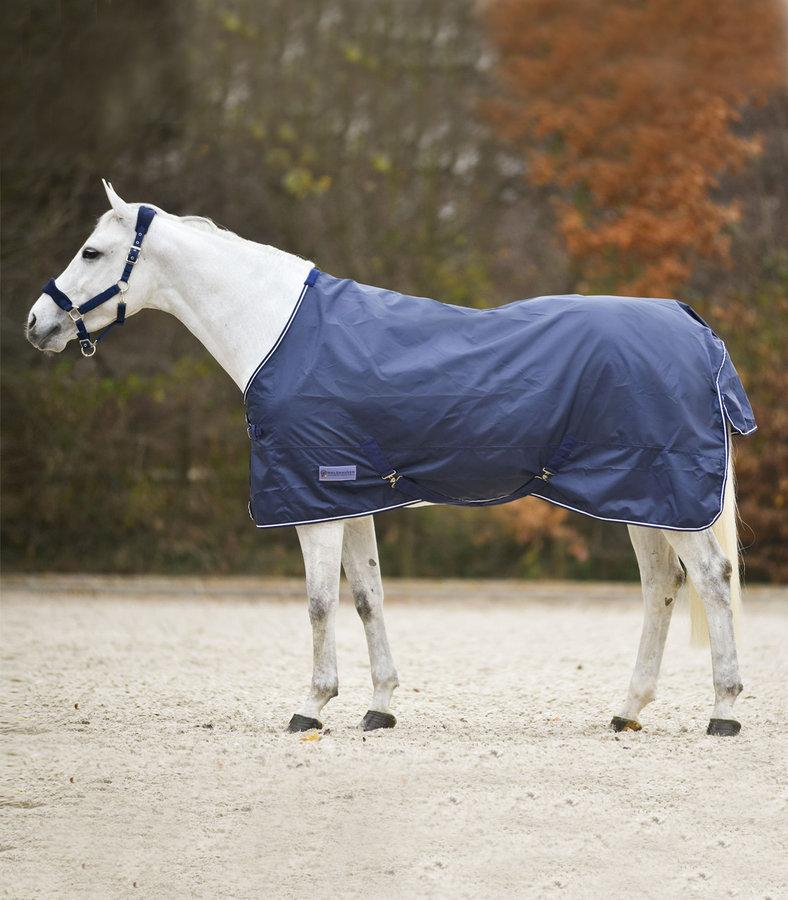 Deka na koně - Deka výběhová nepromokavá lehká modrá Economic Waldhausen Velikost: 155cm