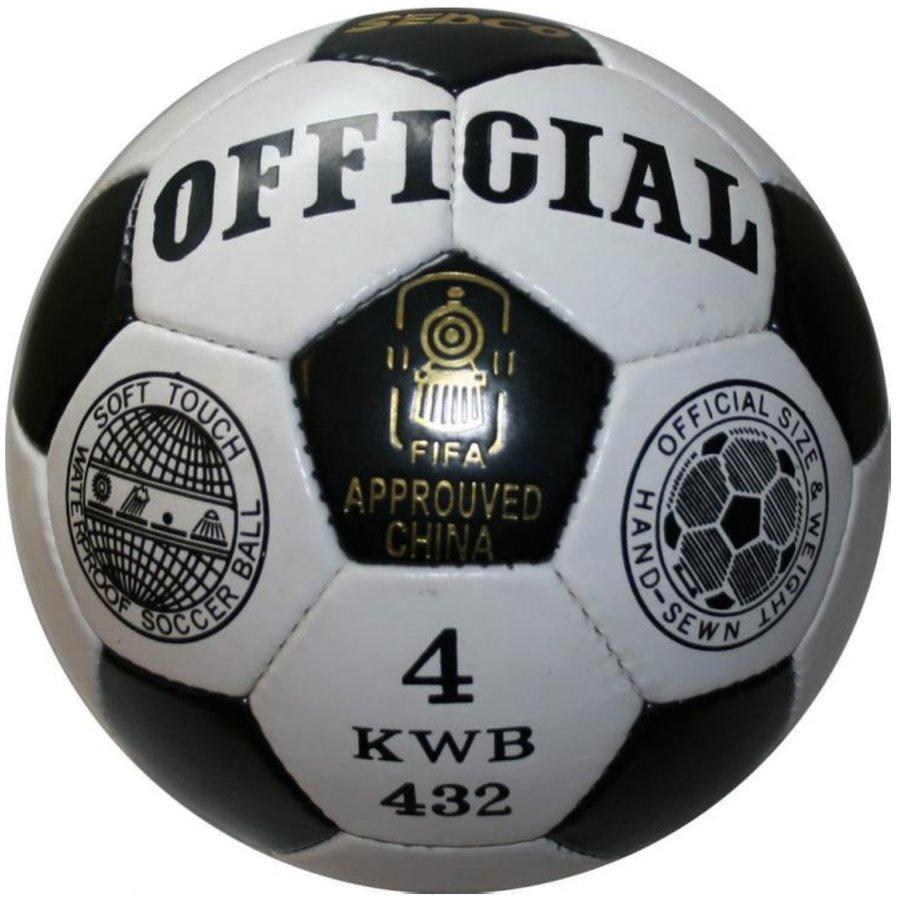 Bílo-černý fotbalový míč Sedco - velikost 4