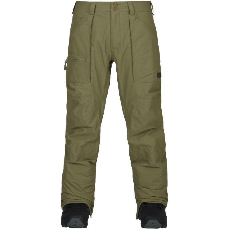 Zelené pánské snowboardové kalhoty Burton - velikost M