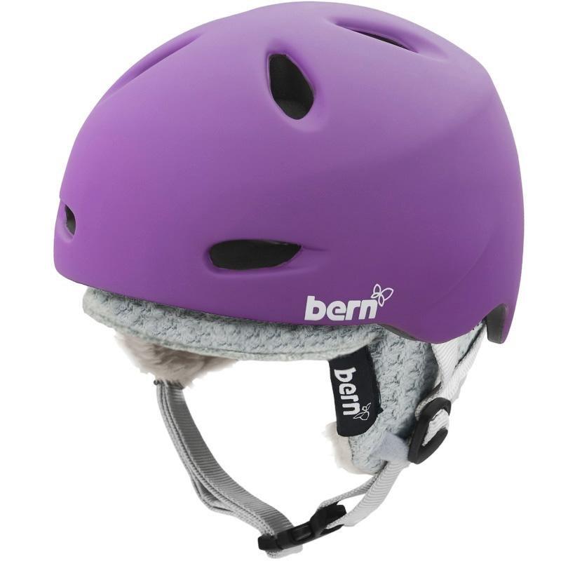 Fialová dámská helma na snowboard Bern - velikost 54-55,5 cm