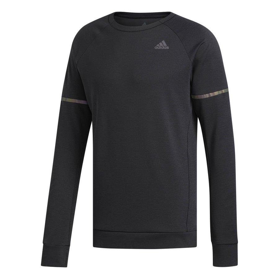 Černá pánská běžecká mikina Sn Run Cru M, Adidas - velikost S
