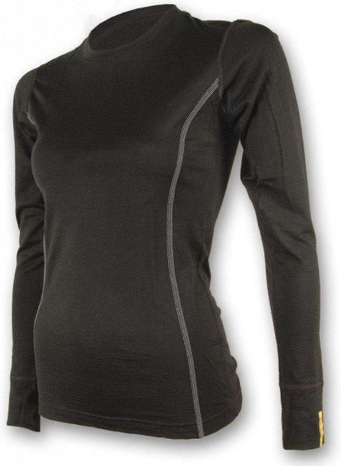 Černé dámské funkční tričko s dlouhým rukávem Sensor - velikost L
