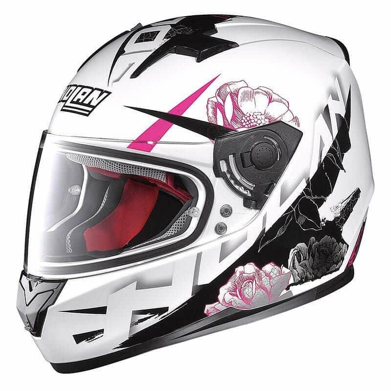 Bílá dámská helma na motorku Nolan - velikost 57-58 cm