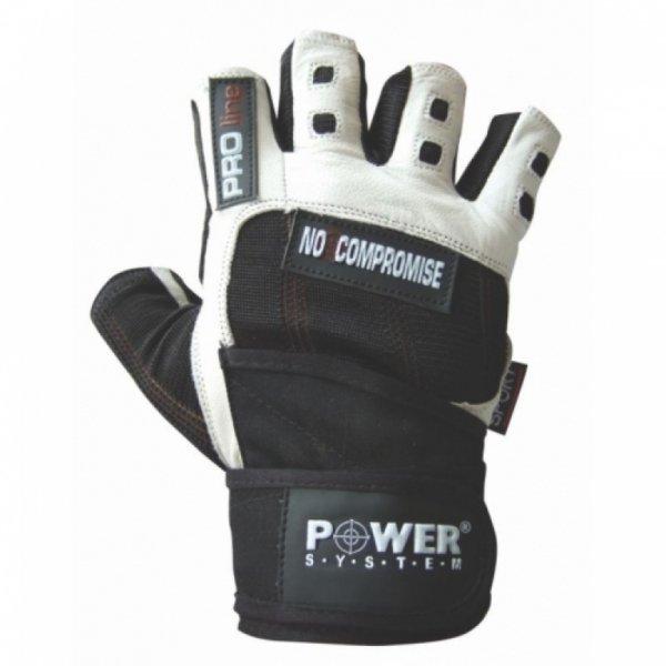 Bílé pánské fitness rukavice Power System