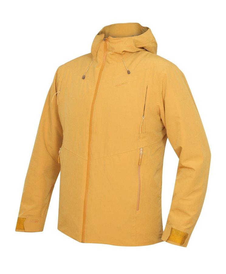 Žlutá hardshellová pánská bunda Husky - velikost XL