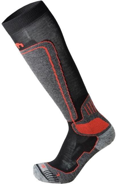 Černo-šedé lyžařské ponožky Mico