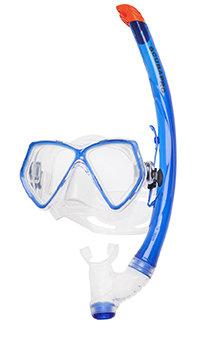 Potápěčská maska - Set Maska a šnorchl Pantai Combo Set - modrá/čirá - k ploutvím FLUIDA