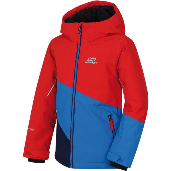 Červeno-modrá dětská lyžařská bunda Hannah - velikost 128